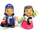 Oriental figurine, handmade Boy and Girl figurines gift set