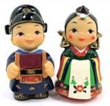 Oriental figurine, handmade bride and groom figurines gift set