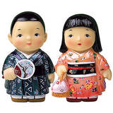 Oriental figurine, Japanese boy and girl figurines gift