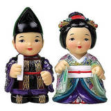 Korean dolls, King and Queen, handmade marble dolls