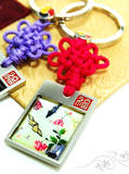 Key ring, mother of pearl gift, butterfly