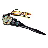 Wooden paper knife, ebony mother of pearl gift. Tiger