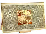 Gold plated business card holder, handmade designer gift
