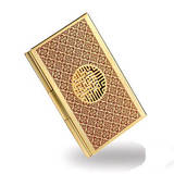 Gold plated handmade business card holder, credit card case, designer gift