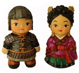 Oriental figurine, Handmade General and his lady figurines gift set