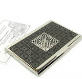 Nickel plated business card holder, credit cardholder, handmade designer gift