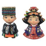 Fridge magnet, handmade oriental figurine set gift