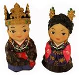 Oriental figurines, King & Queen, Kaya