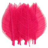 Pressed foliage, pink dried leaves 20pcs for art craft card making