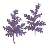 Pressed purple silver lace 20pcs floral art, craft