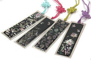 Bookmarks, set of 4 handmade mother of pearl gift