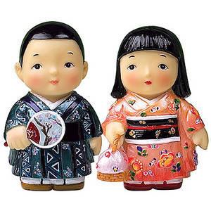 Oriental figurine, Japanese boy and girl figurines gift