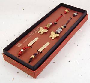 Butterfly string bookmark, set of 2 handmade gift