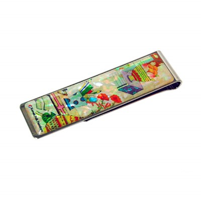 Money clip bookmark paper clip, mother of pearl gift. Oriental study room