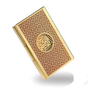 Gold plated handmade business card holder, credit card case, designer gift