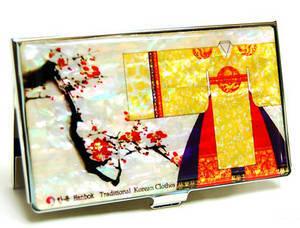 Designer business card holder, credit cardholder, oriental gown clearance sale