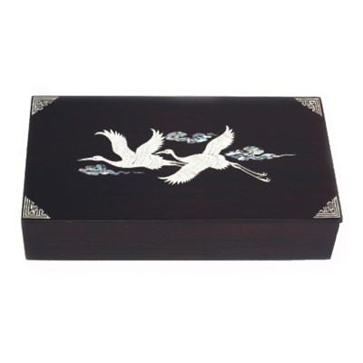 Wooden keepsake box. Mother of pearl trinket box