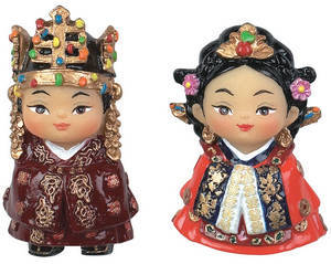 Fridge magnets, handmade oriental figurine gift set