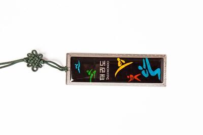 Bookmark, Taekwondo kicks, mother of pearl gift