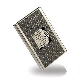 Nickel plated business card holder, credit card holder, handmade designer gift