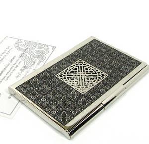 Nickel plated business card holder, credit cardholder, handmade designer gift