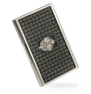 Nickel plated business credit card holder, handmade designer gift