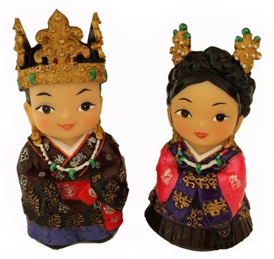 Oriental figurines, King & Queen, Kaya
