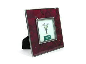 Pressed real dried flower photo frame, Rose garden, red. 6' X 6'