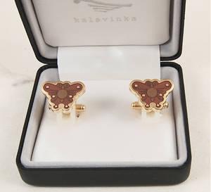 Cufflinks, handmade gift, butterfly