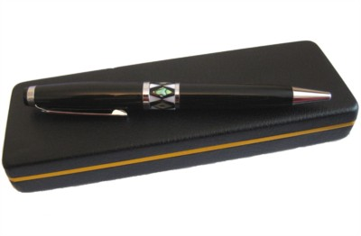 Ball point pen, handmade mother of pearl gift, black