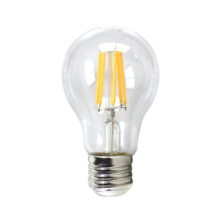 LED Filament Transparent Standard 6W E27 3000K | Silver Sanz