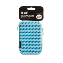 Carrying case for HDD 2.5 '' Blue Geometric | Silver Sanz