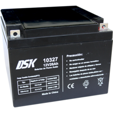 12V 26Ah DSK Lead Battery | Silver Sanz