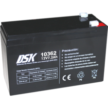 12V 7.2Ah DSK Battery Lead Acid High Discharge (UPS-UPS) | Silver Sanz
