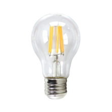 LED Filament Transparent Standard 6W E27 5000K | Silver Sanz