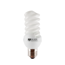 Bombilla Mini Full Espiral 20WE27 4200K (PVC) de Silver Electronics