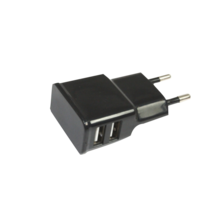 USBx2 MINI CHARGER - 10W 2A (for iPAD & TABLET) BLACK | Silver Sanz
