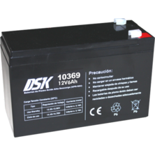 12V 6Ah DSK Battery Lead High Discharge (UPS-UPS) | Silver Sanz