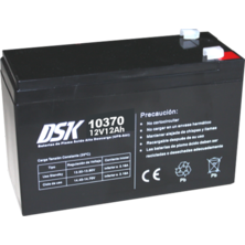 12V 12Ah DSK Battery Lead High Discharge (UPS-UPS) | Silver Sanz