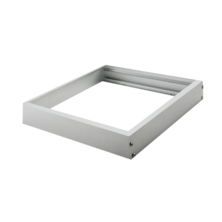 Aluminum surface frame LED panel 600x600mm | Silver Sanz
