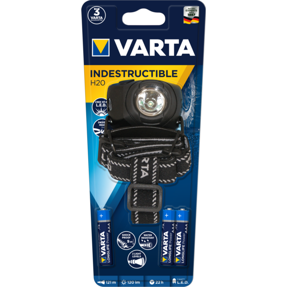 Linterna VARTA Power Line INDESTR. Head Light LED 1W 3AAA Incl. | Silver Sanz