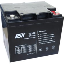 12V 40Ah DSK Lead Acid Battery | Silver Sanz