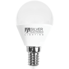 LED Spherical 6W E14 2700K | Silver Sanz