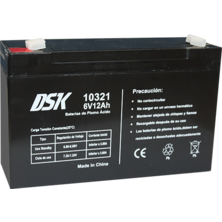 Lead Battery DSK 6v.12A | Silver Sanz