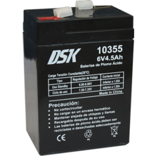 Lead Battery DSK 6v. 4,5Ah | Silver Sanz