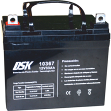 12V 33Ah DSK Lead Acid Battery - Gel Technology | Silver Sanz