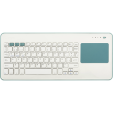 Silver HT Teclado Inalámbrico con Touchpad compatible con Smart TV, PC, Mac, iOS y Android Blanco y Azul