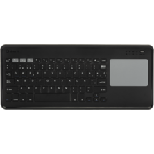 Silver HT Teclado Inalámbrico con Touchpad compatible con Smart TV, PC, Mac, iOS y Android Negro