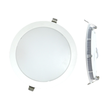 LED ECO PACK Downlight 18W 4000K White | Silver Sanz