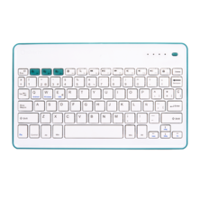 Wireless KB Silver HT White + Blue | Silver Sanz